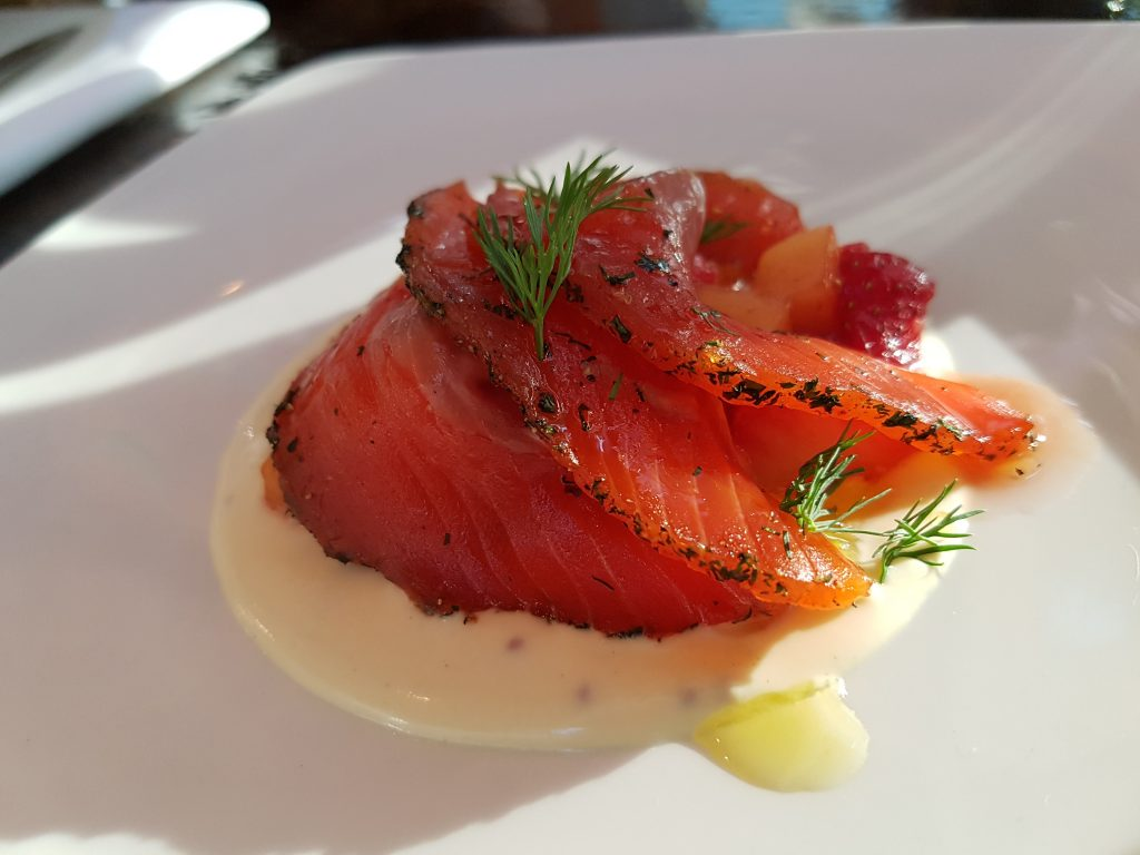 Marinated Salmon - Grey Goose Vodka - Boulangerie Bleue