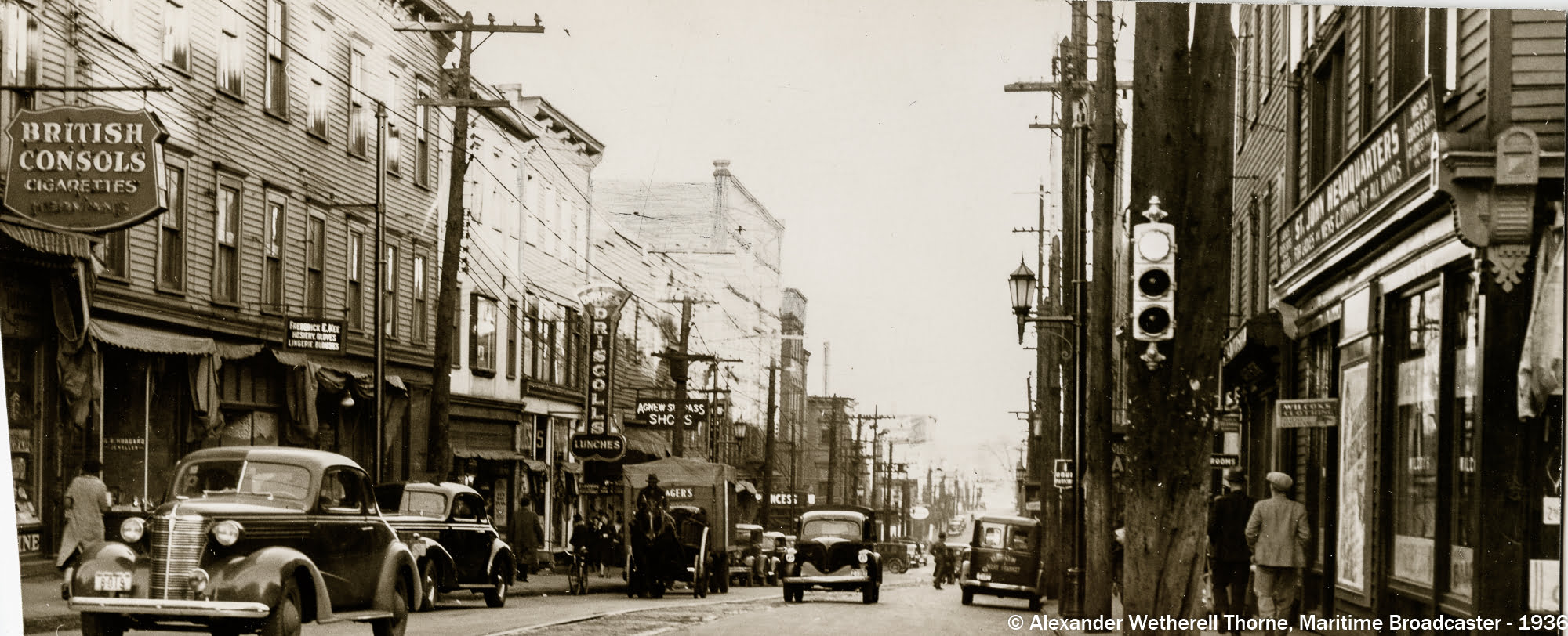 Union St looking east from Charlotte Street, 1936.